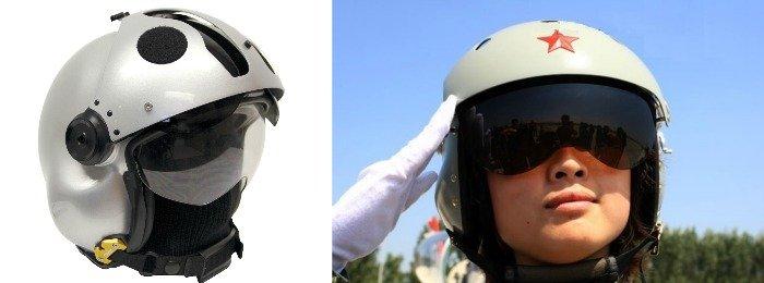 Visera para casco del piloto