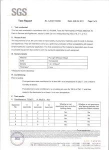 Flame Retardant Polycarboante Sheet